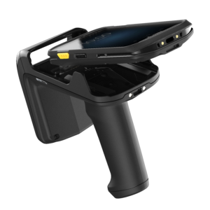 RFID Scanner with a Phone being placed into it - Hardware